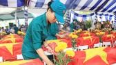 An táng 72 hài cốt liệt sĩ hy sinh trong trận đánh vào sân bay Biên Hòa