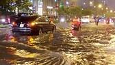 khu vực đường Nguyễn Hữu Cảnh cốt nền và hệ thống cống thoát nước thấp