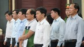 Các bị cáo Navibank tại phiên tòa