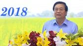 Bí thư Tỉnh ủy Long An Phạm Văn Rạnh phát biểu chỉ đạo