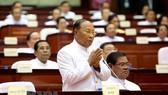 Ông Samdech Heng Samrin phát biểu tại lễ khai mạc một phiên họp Quốc hội ở Phnom Penh. Nguồn: AFP/ TTXVN