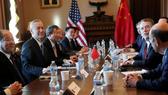 Đoàn đàm phán của Mỹ và Trung Quốc. Ảnh: Reuters