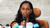 Bộ trưởng Giao thông Ethiopia Dagmawit Moges công bố báo cáo sơ bộ về tai nạn máy bay của hãng Ethiopian Airlines trong cuộc họp báo ngày 4-4. Ảnh: REUTERS