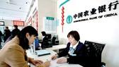 Giao dịch tại một ngân hàng của Trung Quốc. Ảnh: Reuters