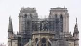 Nhà thờ Đức Bà Paris bị phá hủy một phần sau vụ hỏa hoạn, ngày 16-4 vừa qua. Ảnh: THX/TTXVN