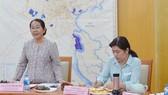 Phó Bí thư Thành ủy TPHCM  Võ Thị Dung phát biểu  tại buổi làm việc. Ảnh: KIỀU Phong