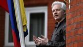 Julian Assange tại Đại sứ quán Ecuador ở London (Anh) . Ảnh tư liệu: AFP/TTXVN