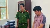 Đọc lệnh bắt tạm giam bị can Tống Quang Thái. Ảnh: Công an  tỉnh Thanh Hóa
