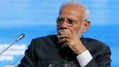 Thủ tướng Ấn Độ Narendra Modi tại Phiên toàn thể Diễn đàn kinh tế Phương Đông EEF lần thứ 5. Ảnh: TTXVN
