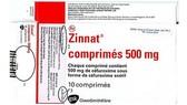 Cảnh báo thuốc kháng sinh Zinnat giả
