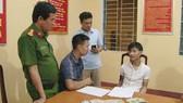 Công an đang phỏng vấn đối tượng Trần Quang Huy
