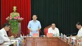 Phó Thủ tướng Vương Đình Huệ phát biểu tại buổi làm việc với Tỉnh ủy Quảng Trị