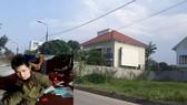 Đối tượng Lê Đình Kiên lúc bị bắt giữ (ảnh nhỏ) và ngôi nhà nơi gây án