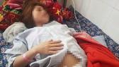 Bệnh nhân Trần Th.H. đang được theo dõi tại bệnh viện