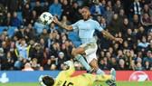 Raheem Sterling với tình huống ghi bàn duy nhất của Man.City. Ảnh: Getty Images