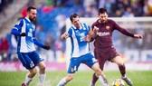 Messi (nâu) dự bị, đã khiến cho Barca gặp khó rất nhiều. Ảnh: Getty Images