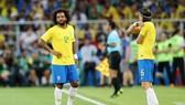 Marcelo thất vọng khi phải nhường chỗ cho Filipe Luis. Ảnh: Getty Images