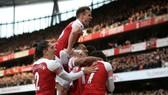 Arsenal sau niềm vui chiến thắng derby là chuyến làm khách khó khăn ở Man.United. Ảnh: Getty Images
