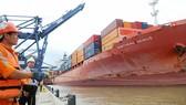 Tàu chở container đưa hàng xuất khẩu từ TPHCM sang các nước  Ảnh:  CAO THĂNG
