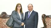 Thủ tướng Nguyễn Xuân Phúc tiếp Đại sứ Israel đến chào từ biệt. Ảnh: VGP