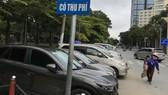 Một điểm đậu xe thu phí trên đường Lê Lai (quận 1)                                      Ảnh: VIỆT DŨNG