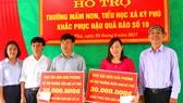 Báo SGGP hỗ trợ 90 triệu đồng cho 3 trường học ở Hà Tĩnh bị thiệt hại do bão