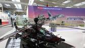 Sản phẩm của công ty xuất khẩu vũ khí quốc doanh Rosoboronexport (Nga) tại một triển lãm. Ảnh: ROSTEC