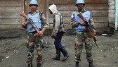 Nhân viên gìn giữ hòa bình Liên Hợp Quốc ở Congo. Ảnh: AP