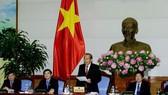 Phó Thủ tướng Thường trực Trương Hoà Bình phát biểu tại buổi gặp mặt  70 chủ tịch công đoàn cơ sở xuất sắc. Ảnh: TTXVN