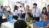 Quang cảnh Lễ khai trương Trung tâm Báo chí Fesstival Huế 2018. Ảnh: TTXVN