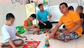 Trẻ tự kỷ vui chơi trong Trường Giáo dục Chuyên biệt Khai Trí TPHCM