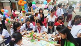 Học sinh sôi nổi tham gia các hoạt động tại ngày hội