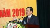 Phó Thủ tướng Vương Đình Huệ phát biểu chỉ đạo tại hội nghị. Ảnh: VGP