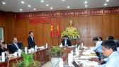 Ông Đỗ Quang Hiển, Chủ tịch HĐQT kiêm Tổng Giám đốc Tập đoàn T&T Group phát biểu tại buổi làm việc