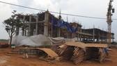 Hiện trường xảy ra vụ sập công trình