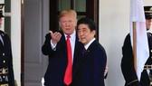 Thủ tướng Nhật Bản Shinzo Abe và Tổng thống Trump. Nguồn: AP