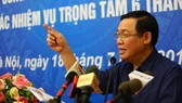 Phó Thủ tướng Vương Đình Huệ phát biểu tại hội nghị. Ảnh: VGP