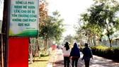 Một khẩu hiệu đề cao ý chí, nghị lực của người cai nghiện  được đặt trên lối vào Cơ sở cai nghiện ma túy số 2 (tại Lâm Đồng).  Ảnh: MAI HOA