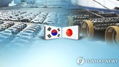 Căng thẳng thương mại Nhật Bản - Hàn Quốc.  Ảnh: YONHAP