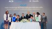 Manulife Việt Nam và ACB bắt tay cung cấp sản phẩm bảo hiểm nhân thọ cho khách hàng ở phân khúc cao cấp