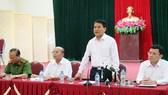 Chủ tịch Ủy ban Nhân dân thành phố Hà Nội Nguyễn Đức Chung phát biểu. Ảnh: TTXVN