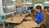 Sản xuất đồ gỗ xuất khẩu tại một đơn vị. Ảnh: CAO THĂNG