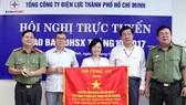 EVNHCMC nhận cờ thi đua xuất sắc phong trào toàn dân bảo vệ an ninh Tổ quốc