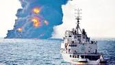 Tàu Sanchi cháy trước khi chìm