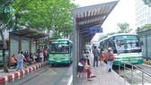Nhà chờ xe buýt trên đường Hàm Nghi, quận 1, TPHCM. Ảnh: CAO THĂNG