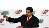 Tổng thống Venezuela Nicolas Maduro, trong lễ mừng tái đắc cử tại Caracas, ngày 22-5-2018. Ảnh: REUTERS