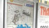 Viết vẽ bậy tại trạm xe buýt
