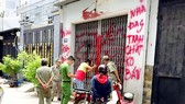 Hiện trường một vụ án liên quan đến tín dụng đen tại quận Bình Tân, TPHCM. Ảnh: TUẤN VŨ