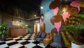 Các tác phẩm tranh treo tường khổ lớn trang trí tại một khách sạn  ở Sa Pa, chép tranh của họa sĩ Hà Hùng Dũng