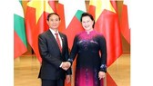 Chairwoman of the National Assembly of Vietnam Nguyen Thi Kim Ngan and President of Myanmar Win Myint (photo:VNA)